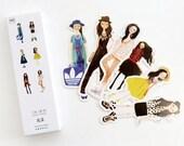 30 Pcs Cute Girl Bookmark - Die Cut Cardstock Scrapbook Embellishment