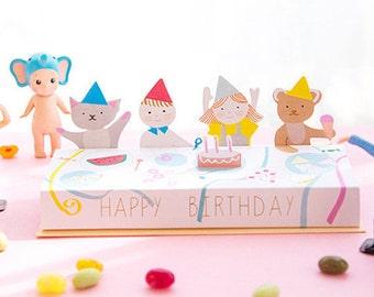 Birthday Cards Cute Cards Cartoon Die Cut Cards