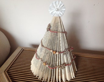 Book Fold Christmas Tree Sculpture Home Decor