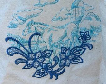 Horse tote,market bag