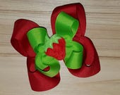 STORE CLOSING, Strawberry bow, Red or Pink, Spring, Summer, hair bow