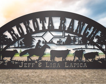 Cowboy Vaquero Sign with Cattle  LMW-16-72