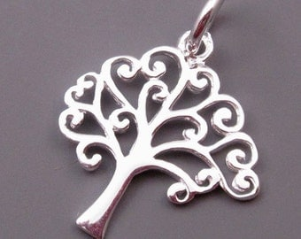 Tree of Life Pendant, Sterling Silver Tree of Life Charm, Bracelet Charm, Tree of Life Necklace Pendant