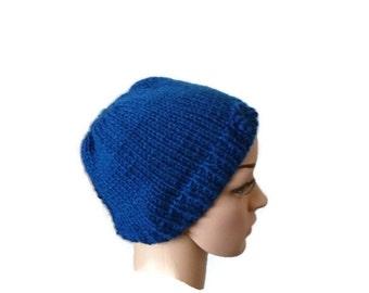 Messy Bun Hat Beanie, Knit Messy Bun Hat, Knit Ponytail Beanie