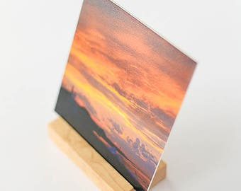 Photo Display | Cape Cod Art with Maple Display Stand | Highland Sky