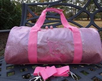 Personalized Dance Bag  Ballet Bag  PINK Dance Bag  Sparkly PINK Ballet Bag  BLING