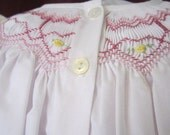 Hand Smocked Day Dress, size Newborn to 12 months, Daygown #701