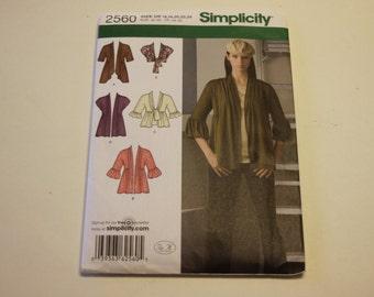 Cardigan Pattern Simplicity 2560: Misses' Knit Cardigans (2009) UNCUT Sizes 16,18,20,22,24