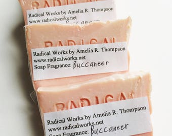Buccaneer Soap - Scented Soap - Natural Handmade Cold Process Olive Oil - Soybean Oil