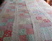 Antique Cutter Quilt for Crafts and Repurposing- Handmade Patchwork Quilt with Defects - Q6F
