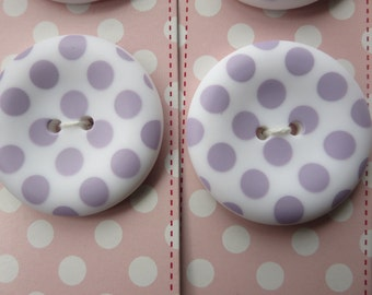 "Riley Blake Sew Together 1.5 "" Matte Round Dot Buttons - Lavender"
