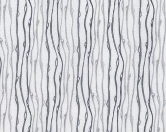 Raindrop in Charcoal  PWSR001  SOFT REPOSE by Shell Rummel - Free Spirit Fabric - By the Yard