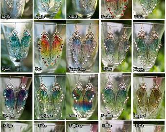 CUSTOM Fairy Wing  earrings