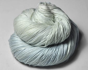 Fading scent of blue cheese OOAK - Merino/Silk Fingering Yarn Superwash