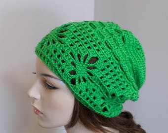 Spring Slouchy Hat Irish Hat Slouchy Beanie Spring Hat CHOOSE COLOR Kelly Green Naturel Wood Earth Neutral Mother's Day Gift under 50