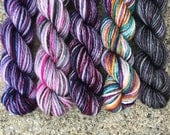 Robes for All Occasions Mini Sock Yarn Skeins - 25 yard skeins - set of 5 for Harry Potter lovers