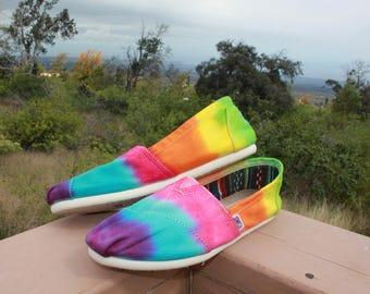 Tie Dye Toms Shoes