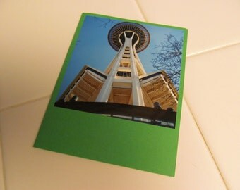 Instagram Photo Card -- Space Needle -- Greeting Card -- Blank Inside