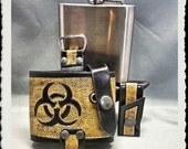 Leather Flask Holster - BioHazard