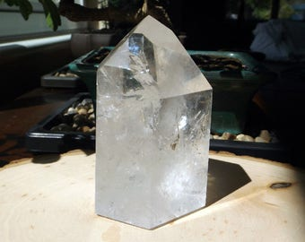 Clear Quartz Generator Tower - 445g, Master Crystal, large quartz, crystal grid, quartz crystal, crystal healing, wiccan, witchcraft, witch