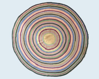 Antique Multi-Colored Circle Rug