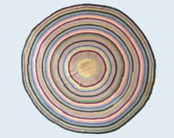 Antique Multi-Colored Circle Rug