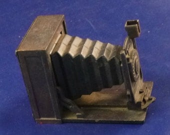 Vintage Box Camera Metal Diecast Pencil Sharpener, 1970s