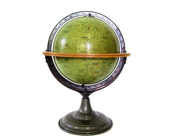 Vintage Celestial Star Globe WW2 c1930s Hammond/Denoyer-Geppert designed by Royal Navy