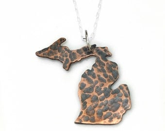 Michigan Petoskey Copper Necklace