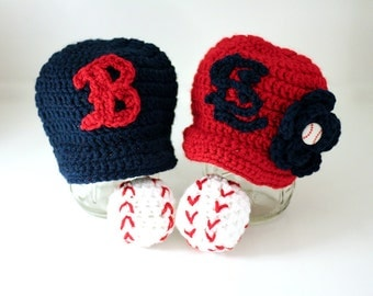 Newborn Twins baseball set, baseball hats for twins, gifts for twins, baseball hats for babies, Newborn to 12 month sizes available