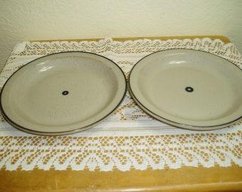 Two Iron Mountain Stoneware Salad Plates