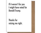 Father's Day Card Funny Letterpress Greeting Card, Trump, Thanks Dad, Dad's Day