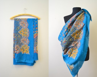 1970s Glentex Large Persian Design Scarf