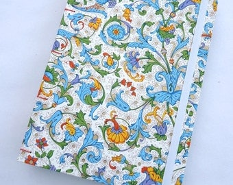 Journal, notebook, lined, florentine, Rossi paper, Coptic, blue