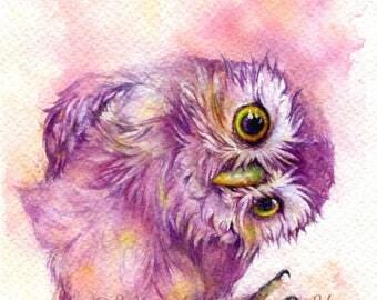Say hi - ORIGINAL watercolor painting 7.5x11 inches