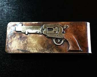 Colt single action army revolver bronze money clip