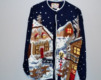 Vintage Christmas in The Village Sweater