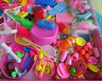Huge 200pc ''Value'' Lot of Barbie Items, most from the 1980's