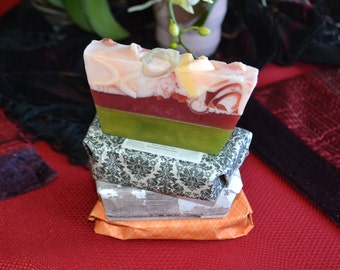 Organic Soap~Large Bar~ Artisan Handmade Soap~ Vegan Soap~ Basil Sage Mint  Soap ~Olive Oil Coconut Oil All Natural Soap