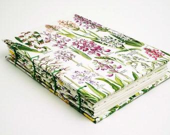 Botanical Journal, Floral Notebook, Garden Notebook, Flower Journal, Spring notebook