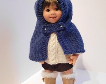 253. French and english knitting pattern PDF - capuchon for Wichtel Müller doll (32 cm)
