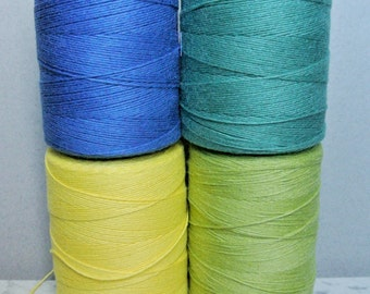 Lot of 4:  Cotton rug warp 8 oz tube - weaving 39 colors available