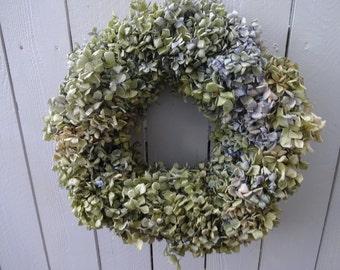 Hydrangea Wreath       Dried Wreath  Shabby Chic   Dried Hydrangea Wreath    Natural Wreath  Wall Decoration