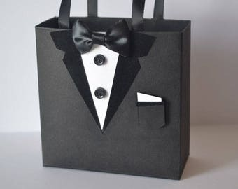 Tuxedo party/gift favor bag great for wedding favors