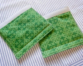 LUGGAGE HANDLE WRAPS Luggage Identifier Tags Green on Green Print One (1) Each