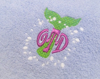 Applique Embroidery Mermaid Tail Purse Design