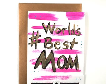 Mom - Hand Painted - Mothers Day Card - Hand Lettered - New Mom - Matchbook Style - Cool Mom