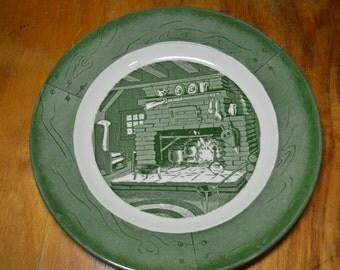 Colonial Homestead dinner plate