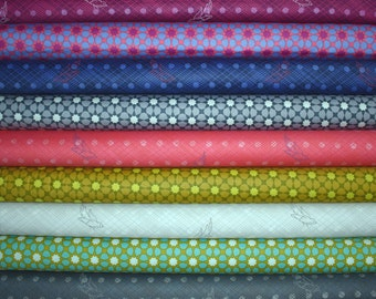 Seventy Six Fat Quarter Bundle of 9 by Alison Glass for Andover Fabrics