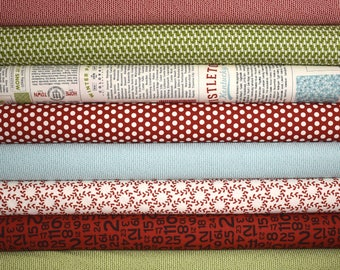 Hometown Christmas Fat Quarter Bundle of 12 by Sweetwater for Moda